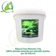 Natural Clay Minerals 2 kg - 100% přírodní minerály pro zahradní jezírka, pro 20-320 m3