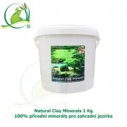 Natural Clay Minerals 1Kg - 100% přírodní minerály pro zahradní jezírka