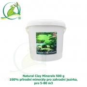 Natural Clay Minerals 500g - 100% přírodní minerály pro zahradní jezírka, pro 5-80 m3