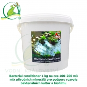 Bacterial conditioner 1 kg na cca 100-200 m3, minerály pro tvorbu optimálního biofilmu a dočištění dna zahradního jezírka