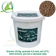 Grower 10 Kg, granule 4,5 mm, od 12°C, letní krmivo, pro koi a okrasné ryby