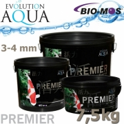 EA Premier, extra kvalitní krmivo pro malé a menší rybky, speciálně pro koi, velikost 3-4 mm, balení 7,5 kg, 25 litrů