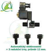 Automatický elektro-ventil + 3 redukční trny o průměru 12 mm