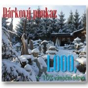 Dárkový poukaz 1000 Kč, zimní +10% sleva