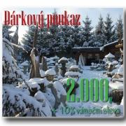Dárkový poukaz 2000 Kč, zimní +10% sleva