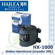 Interiérové univerzální čerpadlo Hailea HX-1000, 200 litrů/hod, max. výtlak 0,5 m, příkon 3W,