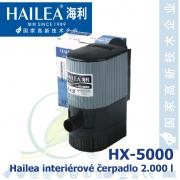 Interiérové univerzální čerpadlo Hailea HX-5000, 2000 litrů/hod, max. výtlak 2,5 m, příkon 40W,