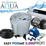 Eazy POD set PROFI 5000, Eazy POD, Airtech 70l, čerpadlo 5000l, evo 30 Watt, bakterie, hadice, ztahováky