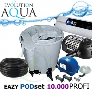 Eazy POD set PROFI 10000, Eazy POD, Airtech 70l, čerpadlo 7000l, evo 30 Watt, bakterie, hadice, ztahováky