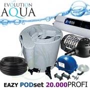 Eazy POD set PROFI 20000, Eazy POD, Airtech 70l, čerpadlo 13000l, evo 55 Watt, bakterie, hadice, ztahováky