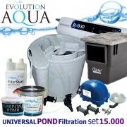 EAZY Universal POND filtration set 15000PLUS, Eazy POD, Airtech 70l, evo 30, skimmer Biosys, bakterie, pro jezírka 5-30 m3