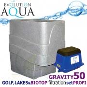 LAKES, BIOTOP&GOLF FILTRATION SYSTEM 50 GRAVITY, 1xCetus, 1x Airtech 130