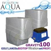 LAKES, BIOTOP&GOLF FILTRATION SYSTEM 100 GRAVITY, 2xCetus, 1x Airtech 130