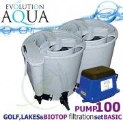 LAKES, BIOTOP&GOLF FILTRATION SYSTEM 100 PUMP, 2xEazy POD, 1x Airtech 130