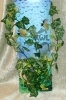 Rostlina s listy břečťanu a bílými žilkami - 35 cm