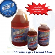 Microbe Lift Clean & Clear bacterie 0,5 L na 5-75 m3, biologický bakteriální preparát pro projasnění a pročištění vody v jezírcích a biotopech