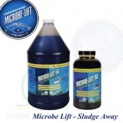 Microbe Lift Sludge Away 4 litry, kaložrout, bakterie na nečistoty, kaly, usazeniny a výkaly ryb