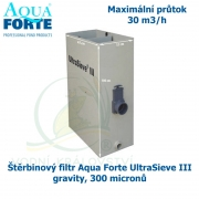 UltraSieve III standard, štěrbinový filtr Aqua Forte gravity 300 micronů