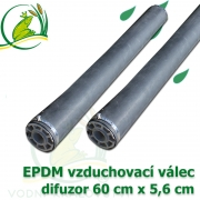 Profesionální vzduchovací EPDM válec 60x5,6 cm, EPDM difuzor
