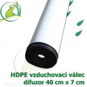 Vzduchovací HDPE válec, 400x70 mm, extra jemný 120 micron na výstupu, neomezená životnost, optimální průtok 83 litrů/min.