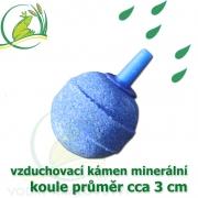 Vzduchovací kámen minerální, koule průměr 3 cm
