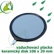 Profi vzduchovací placka dutá, 106 mm x 20 mm, napojení 4-9 mm