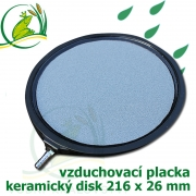 Profi vzduchovací placka dutá 216 mm x 26 mm, napojení 9-12 mm