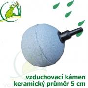 Vzduchovací kámen keramický, koule 50 mm, napojení 4-9 mm