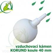 Vzduchovací kámen bílý, korund, koule, průměr 40 mm