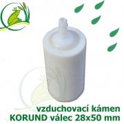 Vzduchovací kámen bílý, korund, válec 28x50 mm