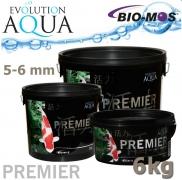 EA Premier, extra kvalitní krmivo pro střední a velké ryby, speciálně pro koi, velikost 5-6 mm, balení 6 kg, cca 20 litrů