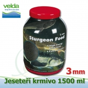 1500 ml jeseteří krmivo o velikosti 3 mm, pro malé i velké jesetery, pro celoroční krmení