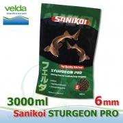 Sanikoi Sturgeon 6 mm, jeseter extra krmivo 3.000 ml, cca 2100 g, pro střední a velké jesetery, speciálně vhodné do jezírek a odchoven