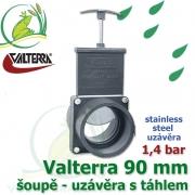 Valterra šoupě 90 mm originál nerez, tažný PVC uzávěr s nerezovým uzávěrem