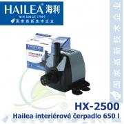 Interiérové univerzální čerpadlo Hailea HX-2500, 650 litrů/hod, max. výtlak 1,3 m, příkon 12W,