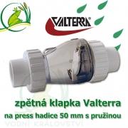 Originální Valterra zpětná klapka na hadice a trubky 50 mm s pružinou