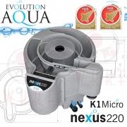 Evolution Aqua Nexus Eazy 220 EAST + waste kit, filtrace pro koi jezírka a chovy ryb  do 18 m3, pro okrasná a biotopy do 100 m3, včetně 18 l K1 Micro a 50 l K1, až 5 let záruka