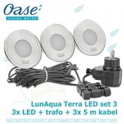 LunAqua Terra LED Set 3, 12 Volt 3xLED osvětlení s bílým světlem, pro jakékoliv instalace