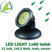 Vodní osvětlení 1 ks LED Light 60 diod, 12 Volt, 6,5 Watt s automatickým senzorem vypínání