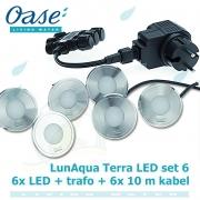 LunAqua Terra LED Set 6, 12 Volt 6xLED osvětlení s bílým světlem, pro jakékoliv instalace