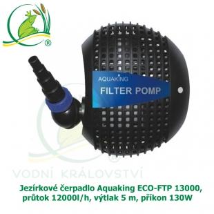 Jezírkové čerpadlo Aquaking ECO-FTP 13000, průtok 12000l/h, výplak 5 m, příkon 130W
