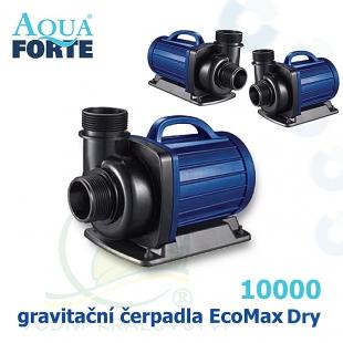 Gravitační čerpadlo Aqua Forte EcoMax Dry DM 10000, max. průtok 10000 l/h, výtlak 5 m, příkon 85W