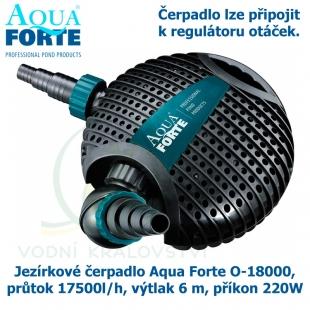 Jezírkové čerpadlo Aqua Forte O-18000, průtok 17500l/h, výtlak 6 m, příkon 220W