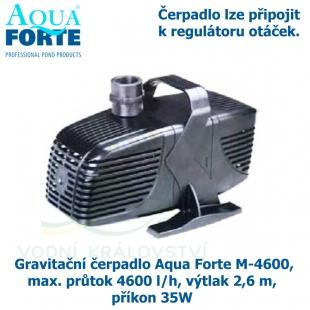 Gravitační čerpadlo Aqua Forte M-4600, max. průtok 4600 l/h, výtlak 2,6 m, příkon 35W