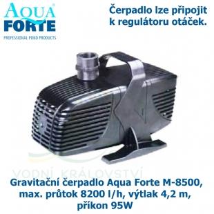 Gravitační čerpadlo Aqua Forte M-8500, max. průtok 8200 l/h, výtlak 4,2 m, příkon 95W