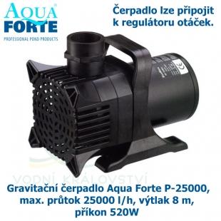 Gravitační čerpadlo Aqua Forte P-25000, max. průtok 25000 l/h, výtlak 8 m, příkon 520W