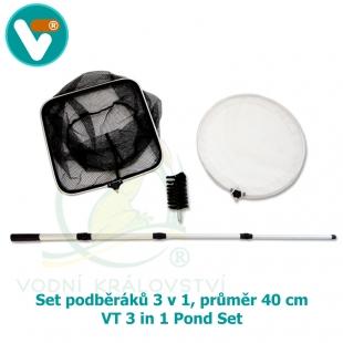 Set podběráků 3 v 1, průměr 40 cm - VT 3 in 1 Pond Set