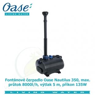 Fontánové čerpadlo Oase Nautilus 350, max. průtok 8000l/h, výtlak 5 m, příkon 135W