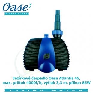 Jezírkové čerpadlo Oase Atlantis 45, max. průtok 4000l/h, výtlak 3,3 m, příkon 85W,