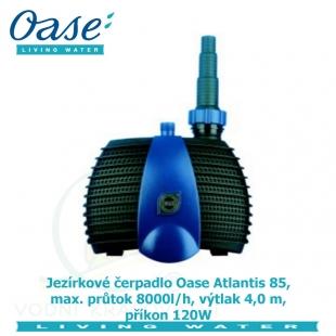 Jezírkové čerpadlo Oase Atlantis 85, max. průtok 8000l/h, výtlak 4,0 m, příkon 120W,
